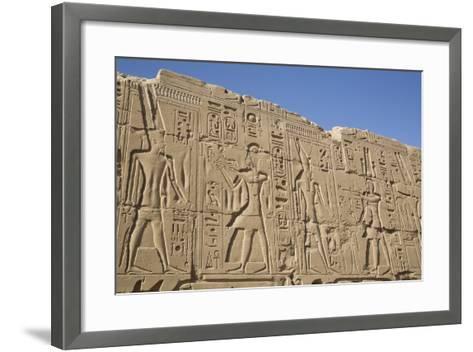 Bas-Relief of Pharaohs and Gods, Karnak Temple, Luxor, Thebes, Egypt, North Africa, Africa-Richard Maschmeyer-Framed Art Print