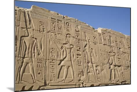 Bas-Relief of Pharaohs and Gods, Karnak Temple, Luxor, Thebes, Egypt, North Africa, Africa-Richard Maschmeyer-Mounted Photographic Print