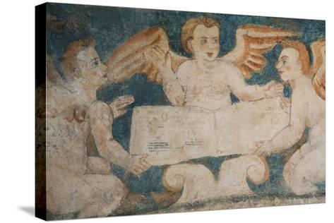 Close-Up of 16th Century Frescoes-Richard Maschmeyer-Stretched Canvas Print