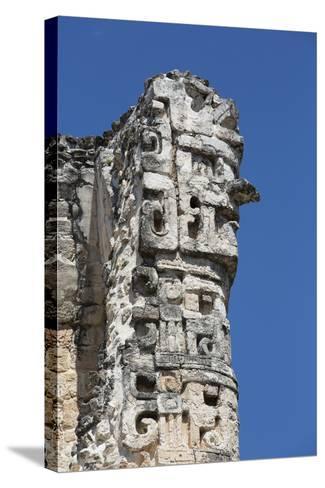 Chac Rain God, Dzibilnocac (Painted Vault) Temple, Dzibilnocac-Richard Maschmeyer-Stretched Canvas Print