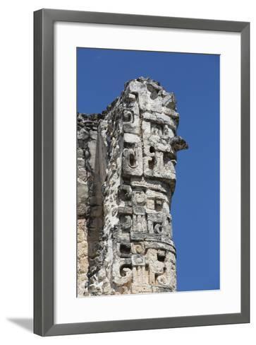 Chac Rain God, Dzibilnocac (Painted Vault) Temple, Dzibilnocac-Richard Maschmeyer-Framed Art Print