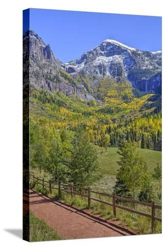 Fall Colours, Telluride, Western San Juan Mountains in the Background-Richard Maschmeyer-Stretched Canvas Print