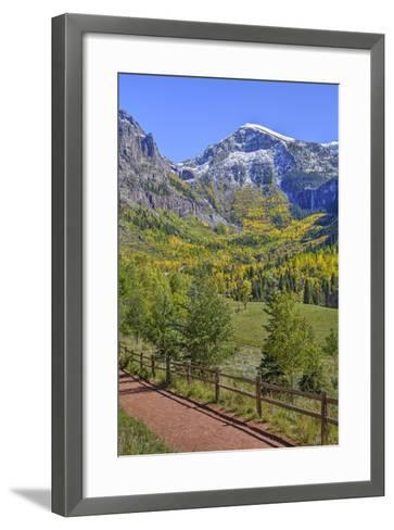 Fall Colours, Telluride, Western San Juan Mountains in the Background-Richard Maschmeyer-Framed Art Print