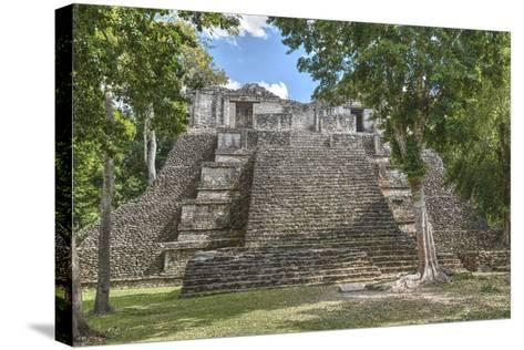 Structure 6, Kohunlich, Mayan Archaeological Site, Quintana Roo, Mexico, North America-Richard Maschmeyer-Stretched Canvas Print
