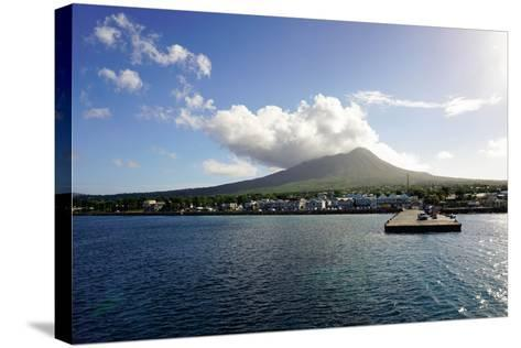 Charlestown with Mount Nevis in Background-Robert Harding-Stretched Canvas Print
