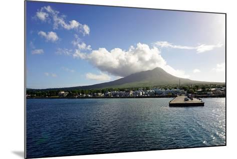 Charlestown with Mount Nevis in Background-Robert Harding-Mounted Photographic Print