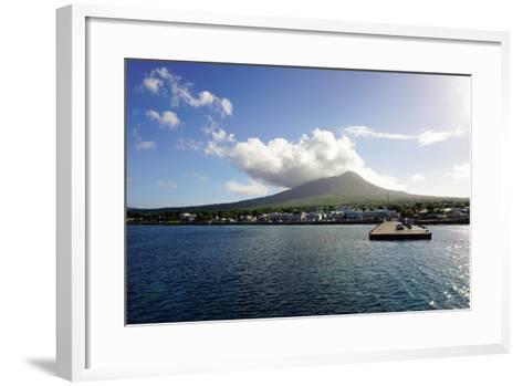 Charlestown with Mount Nevis in Background-Robert Harding-Framed Art Print