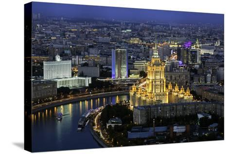 Elevated View over the Moskva River Embankment-Gavin Hellier-Stretched Canvas Print