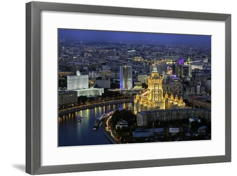 Elevated View over the Moskva River Embankment-Gavin Hellier-Framed Art Print
