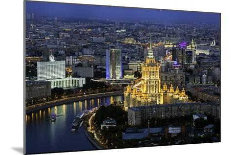Elevated View over the Moskva River Embankment-Gavin Hellier-Mounted Photographic Print