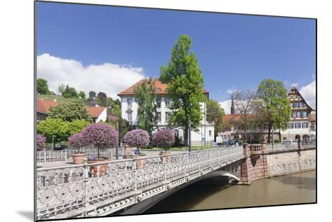 View over Wehrneckarkanal Chanel to Schwoerhaus House-Markus Lange-Mounted Photographic Print