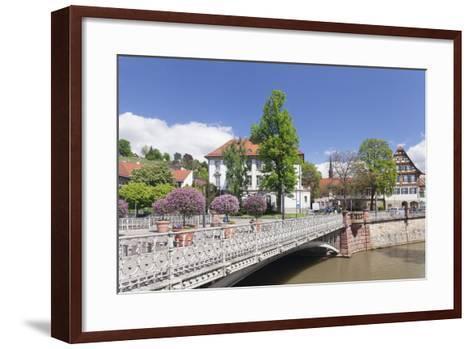 View over Wehrneckarkanal Chanel to Schwoerhaus House-Markus Lange-Framed Art Print