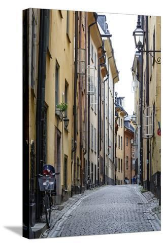 Street Scene in Gamla Stan, Stockholm, Sweden, Scandinavia, Europe-Yadid Levy-Stretched Canvas Print