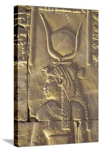 Relief Depicting the Goddess Hathor, Temple of Horus, Edfu, Egypt, North Africa, Africa-Richard Maschmeyer-Stretched Canvas Print