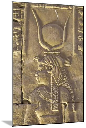 Relief Depicting the Goddess Hathor, Temple of Horus, Edfu, Egypt, North Africa, Africa-Richard Maschmeyer-Mounted Photographic Print