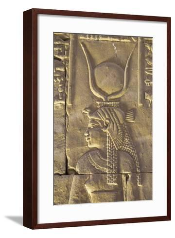 Relief Depicting the Goddess Hathor, Temple of Horus, Edfu, Egypt, North Africa, Africa-Richard Maschmeyer-Framed Art Print