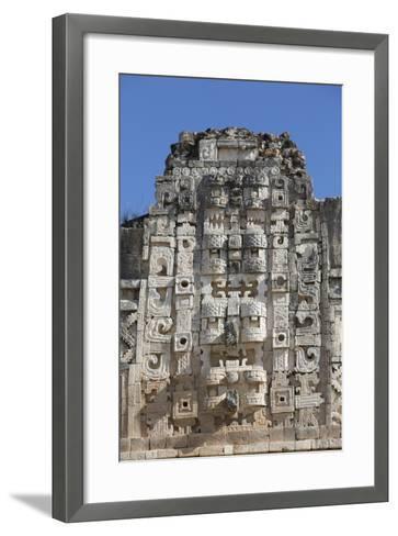 Chac Rain God Masks, Nuns Quadrangle, Uxmal-Richard Maschmeyer-Framed Art Print