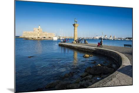 The Old Agios Nikolaos Fortress, Mandraki Harbour, Rhodes Town, Dodecanese Islands, Greek Islands-Michael Runkel-Mounted Photographic Print