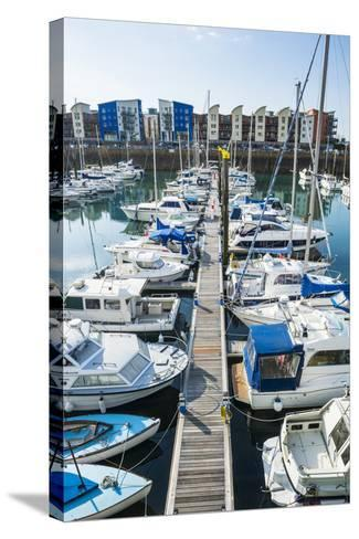 Sport Boat Harbour, St. Helier, Jersey, Channel Islands, United Kingdom, Europe-Michael Runkel-Stretched Canvas Print