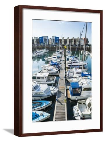 Sport Boat Harbour, St. Helier, Jersey, Channel Islands, United Kingdom, Europe-Michael Runkel-Framed Art Print