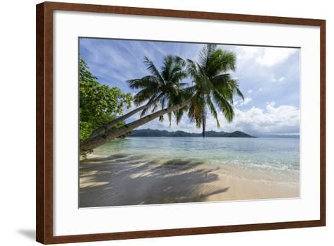 Tropical Island Beach at Matangi Island Resort, Vanua Levu, Fiji, Pacific-Louise Murray-Framed Art Print