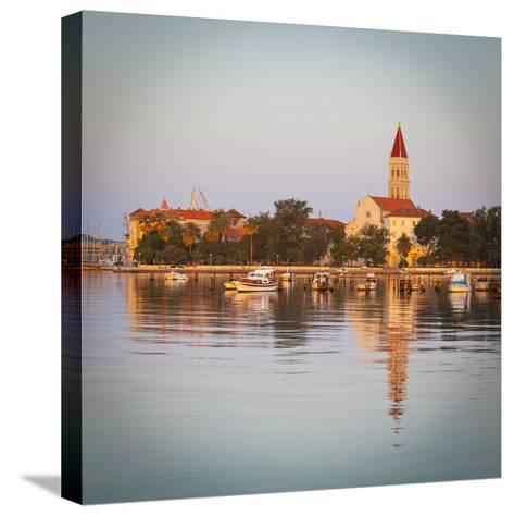 Cathedral of St. Lawrence Illuminated at Sunrise, Stari Grad (Old Town), Trogir, Dalmatia, Croatia-Doug Pearson-Stretched Canvas Print