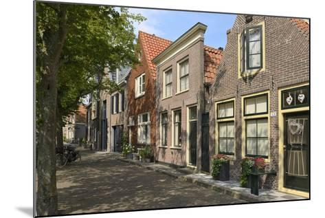 Street of Uniquely Individual Dutch Houses, Zuider Havendijk, Enkhuizen, North Holland, Netherlands-Peter Richardson-Mounted Photographic Print