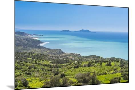 View over the South Coast of Crete with its Turquoise Waters, Crete, Greek Islands, Greece, Europe-Michael Runkel-Mounted Photographic Print