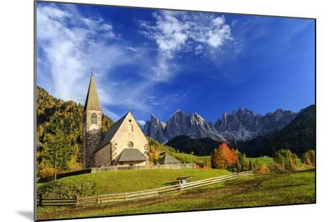 Church of St. Magdalena Immersed in the Colors of Autumn-Roberto Moiola-Mounted Photographic Print