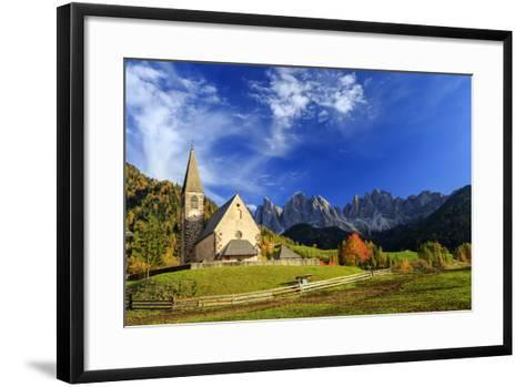 Church of St. Magdalena Immersed in the Colors of Autumn-Roberto Moiola-Framed Art Print