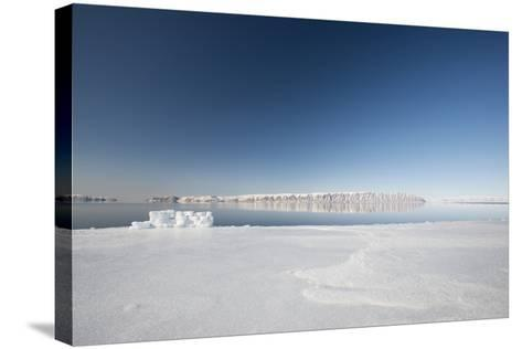 Hunting Blind Made from Ice Blocks at the Floe Edge-Louise Murray-Stretched Canvas Print