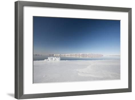 Hunting Blind Made from Ice Blocks at the Floe Edge-Louise Murray-Framed Art Print
