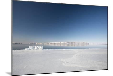 Hunting Blind Made from Ice Blocks at the Floe Edge-Louise Murray-Mounted Photographic Print
