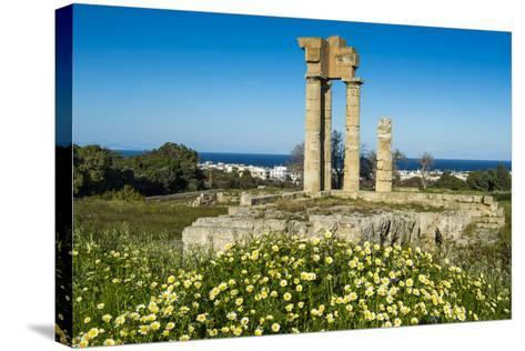 Temple of Apollo at the Acropolis, Rhodes, Dodecanese, Greek Islands, Greece, Europe-Michael Runkel-Stretched Canvas Print