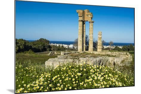 Temple of Apollo at the Acropolis, Rhodes, Dodecanese, Greek Islands, Greece, Europe-Michael Runkel-Mounted Photographic Print