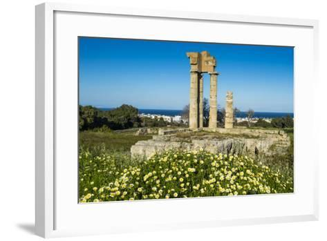 Temple of Apollo at the Acropolis, Rhodes, Dodecanese, Greek Islands, Greece, Europe-Michael Runkel-Framed Art Print