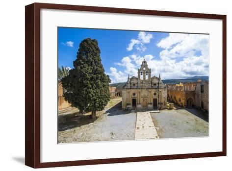 Historical Arkadi Monastery, Crete, Greek Islands, Greece-Michael Runkel-Framed Art Print