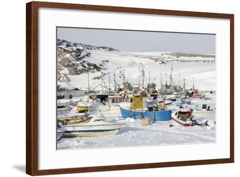 Ilulissat Harbour, Greenland, Denmark, Polar Regions-Sergio Pitamitz-Framed Art Print