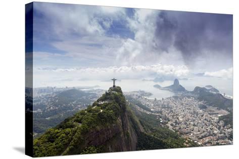 Rio De Janeiro Landscape Showing Corcovado, the Christ and the Sugar Loaf, Rio De Janeiro, Brazil-Alex Robinson-Stretched Canvas Print