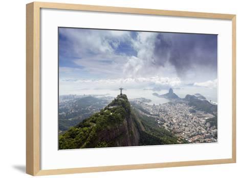 Rio De Janeiro Landscape Showing Corcovado, the Christ and the Sugar Loaf, Rio De Janeiro, Brazil-Alex Robinson-Framed Art Print