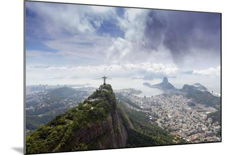 Rio De Janeiro Landscape Showing Corcovado, the Christ and the Sugar Loaf, Rio De Janeiro, Brazil-Alex Robinson-Mounted Photographic Print