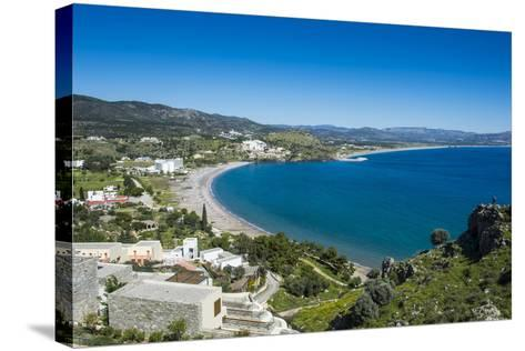 The Bay of Theotokos, Lindos, Rhodes, Dodecanese Islands, Greek Islands, Greece-Michael Runkel-Stretched Canvas Print
