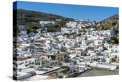 Lindos, Rhodes, Dodecanese Islands, Greek Islands, Greece, Europe-Michael Runkel-Stretched Canvas Print