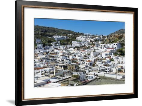 Lindos, Rhodes, Dodecanese Islands, Greek Islands, Greece, Europe-Michael Runkel-Framed Art Print