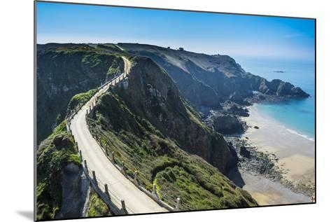 Road Connecting the Narrow Isthmus of Greater and Little Sark, Channel Islands, United Kingdom-Michael Runkel-Mounted Photographic Print