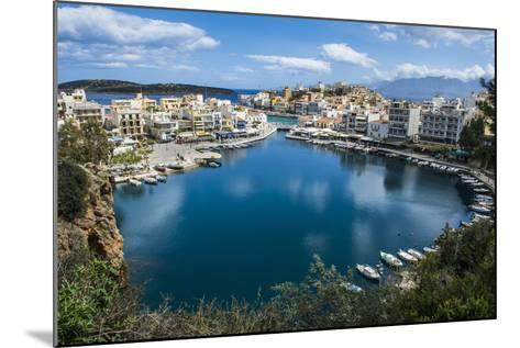 View over Lake Voulismeni, Agios Nikolaos, Crete, Greek Islands, Greece-Michael Runkel-Mounted Photographic Print
