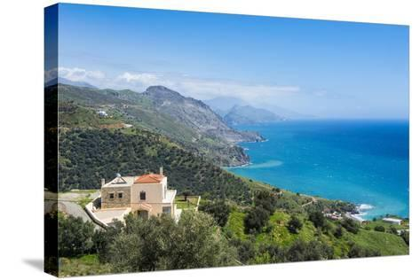 View over the South Coast of Crete, Greek Islands, Greece, Europe-Michael Runkel-Stretched Canvas Print