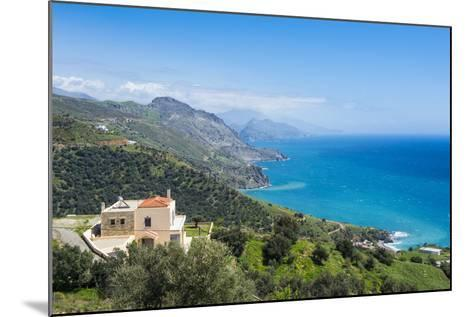 View over the South Coast of Crete, Greek Islands, Greece, Europe-Michael Runkel-Mounted Photographic Print
