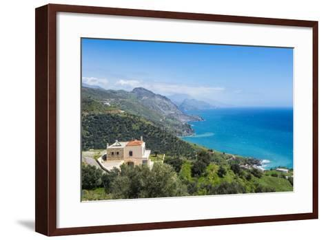 View over the South Coast of Crete, Greek Islands, Greece, Europe-Michael Runkel-Framed Art Print