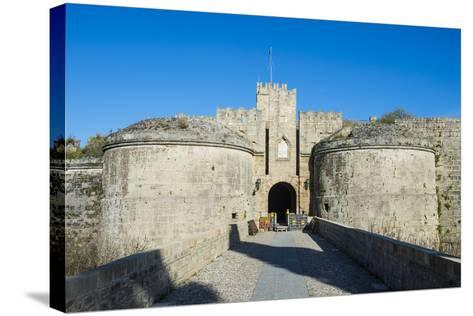 Gate D'Amboise, the Medieval Old Town, City of Rhodes-Michael Runkel-Stretched Canvas Print